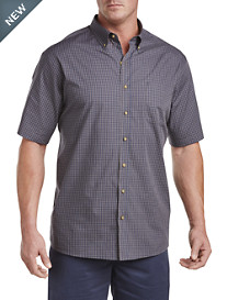 Harbor Bay® Easy-Care Small Plaid Sport Shirt