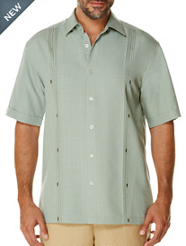 Cubavera® Solid Lilypad Detailed Sport Shirt