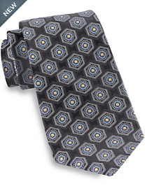 Gold Series® Designed in Italy Large Circle Medallion Silk Tie