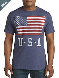 USA Flag Stack Graphic Tee