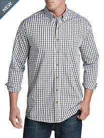 Harbor Bay® Easy-Care Grid-Pattern Sport Shirt