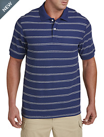 Harbor Bay® Narrow Double Stripe Polo