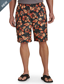 Island Passport® Floral-Print Swim Trunks