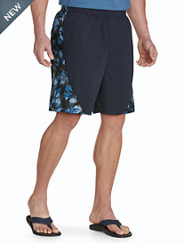 Harbor Bay® Floral Swim Trunks