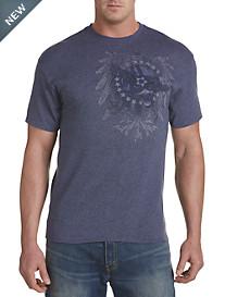Navy Tonal Heraldic Graphic Tee