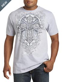 Winged Cross Heraldic Graphic Tee