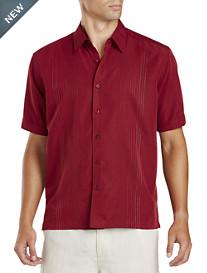 Cubavera® Embroidered Cabernet Sport Shirt