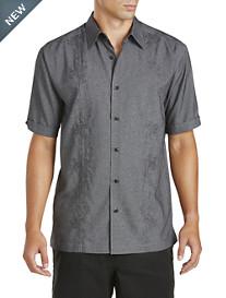 Cubavera® Tonal Embroidered Sport Shirt