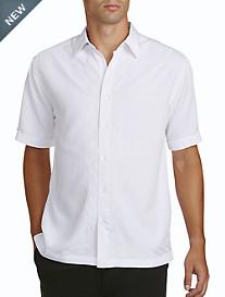 Cubavera® White L-Shape Sport Shirt