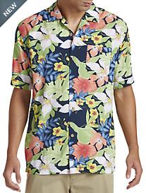 Cubavera® Moonlit Ocean Multi-Floral Camp Shirt