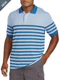 Harbor Bay® Oxford Placed Stripe Polo