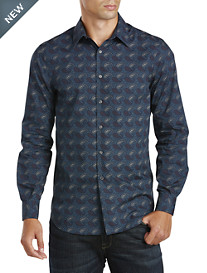 Perry Ellis® Etched Paisley Sport Shirt
