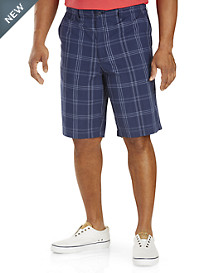 True Nation® Flat-Front Plaid Shorts