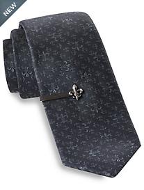 Gold Series® Fleur de Lis Tie and Tie Bar
