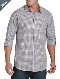 Synrgy™ Plaid Roll-Sleeve Sport Shirt