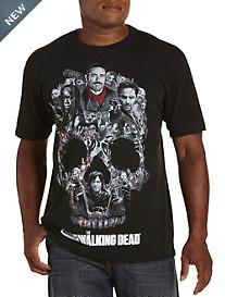 Walking Dead--Skull Montage Graphic Tee