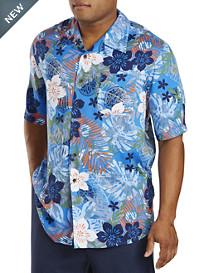 Island Passport® Floral-Print Camp Shirt