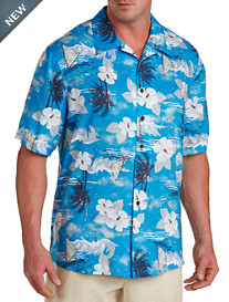Island Passport® Nautical-Print Camp Shirt