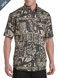 Harbor Bay® Tropical Print Sport Shirt