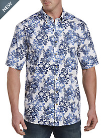 Harbor Bay® Leaf-Print Sport Shirt