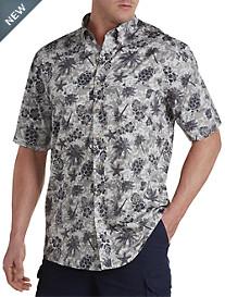 Harbor Bay® Tonal Fish Print Sport Shirt