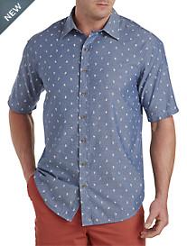 True Nation® Nautical-Print Chambray Sport Shirt