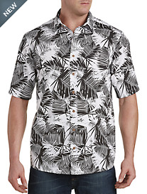 True Nation® Feather Tropical Print Sport Shirt