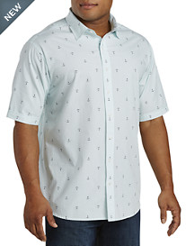 Synrgy™ Washed Anchor-Print Sport Shirt