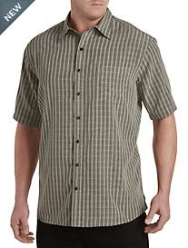 Harbor Bay® Small Plaid Microfiber Sport Shirt