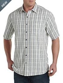 Harbor Bay® Medium Plaid Microfiber Sport Shirt