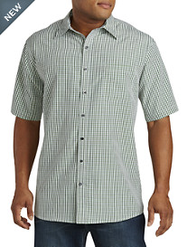 Harbor Bay® Small Check Microfiber Sport Shirt