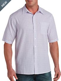 Harbor Bay® Patterned Seersucker Sport Shirt
