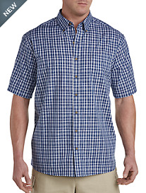 Harbor Bay® Easy-Care Small Plaid Sport Shirt
