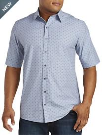 Synrgy™ Circle-Print Chambray Sport Shirt