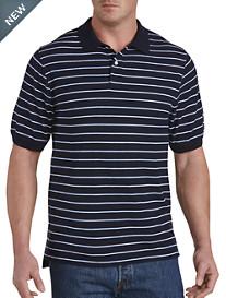 Harbor Bay® Narrow Bi-Color Stripe Polo