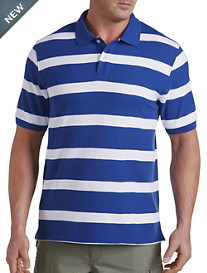 Harbor Bay® Large Rubgy Stripe Polo