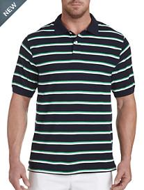 Harbor Bay® Medium Bi-Color Stripe Polo