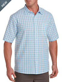 Harbor Bay® Large Plaid Seersucker Sport Shirt