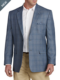 Oak Hill® Jacket-Relaxer™ Plaid Sport Coat