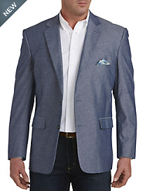 Oak Hill® Jacket-Relaxer™ Textured Chambray Sport Coat