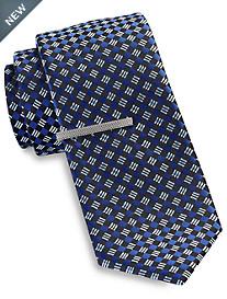 Gold Series® Diamond Geometric Tie with Tie Bar