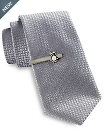 Gold Series® Tree Diamond Solid Tie with 3 Holiday Tie Bars
