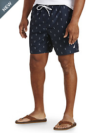 Nautica® Anchor-Print Swim Trunks