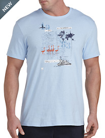 Nautica® Ellis Island Map Graphic Tee