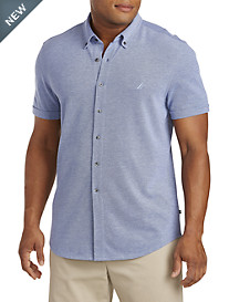 Nautica® Button-Down Piqué Polo