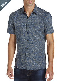 Perry Ellis® Fern-Print Sport Shirt