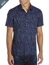 Perry Ellis® Tonal Leaf-Print Sport Shirt