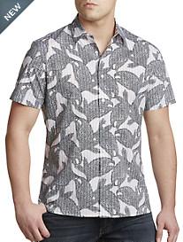 Perry Ellis® Floral Stripe Sport Shirt