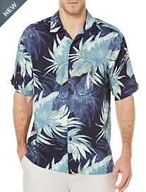 Cubavera® Palm-Print Sport Shirt