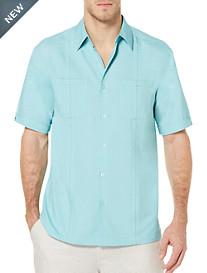 Cubavera® Aquarelle Solid Sport Shirt